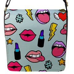 Lipstick Lips Heart Valentine Star Lightning Beauty Sexy Flap Messenger Bag (s) by Mariart