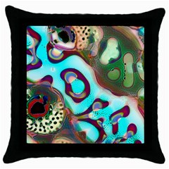 Multiscale Turing Pattern Recursive Coupled Stone Rainbow Throw Pillow Case (black)