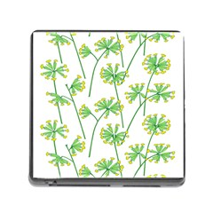 Marimekko Fabric Flower Floral Leaf Memory Card Reader (square) by Mariart