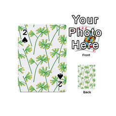 Marimekko Fabric Flower Floral Leaf Playing Cards 54 (mini)  by Mariart