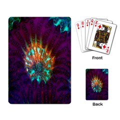 Live Green Brain Goniastrea Underwater Corals Consist Small Playing Card by Mariart