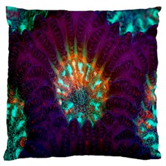 Live Green Brain Goniastrea Underwater Corals Consist Small Large Flano Cushion Case (two Sides) by Mariart