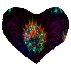 Live Green Brain Goniastrea Underwater Corals Consist Small Large 19  Premium Flano Heart Shape Cushions by Mariart