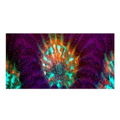 Live Green Brain Goniastrea Underwater Corals Consist Small Satin Shawl by Mariart