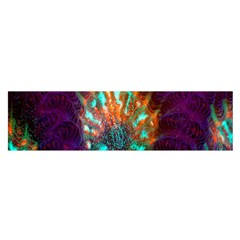Live Green Brain Goniastrea Underwater Corals Consist Small Satin Scarf (oblong) by Mariart