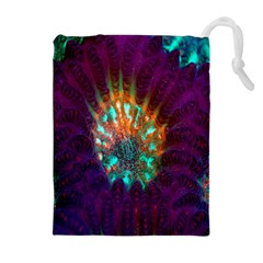 Live Green Brain Goniastrea Underwater Corals Consist Small Drawstring Pouches (extra Large) by Mariart