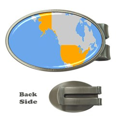 Map Transform World Money Clips (oval)