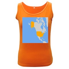 Map Transform World Women s Dark Tank Top by Mariart