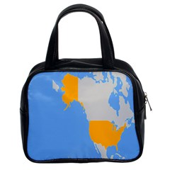 Map Transform World Classic Handbags (2 Sides) by Mariart