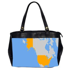 Map Transform World Office Handbags (2 Sides)  by Mariart