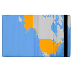 Map Transform World Apple Ipad 2 Flip Case by Mariart