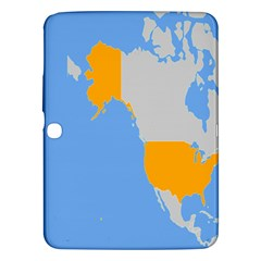 Map Transform World Samsung Galaxy Tab 3 (10 1 ) P5200 Hardshell Case  by Mariart