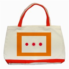 Patterns Types Drag Swipe Fling Activities Gestures Classic Tote Bag (red) by Mariart