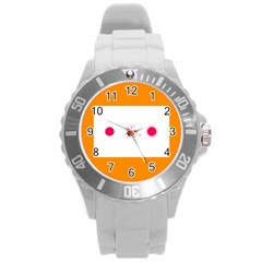 Patterns Types Drag Swipe Fling Activities Gestures Round Plastic Sport Watch (l) by Mariart