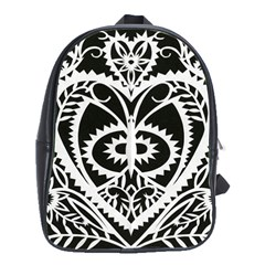 Paper Cut Butterflies Black White School Bag (large) by Mariart