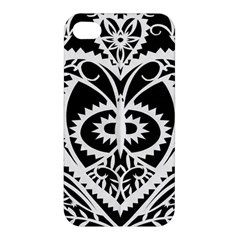 Paper Cut Butterflies Black White Apple Iphone 4/4s Hardshell Case by Mariart
