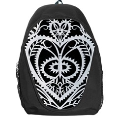Paper Cut Butterflies Black White Backpack Bag by Mariart