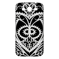 Paper Cut Butterflies Black White Samsung Galaxy Mega 5 8 I9152 Hardshell Case