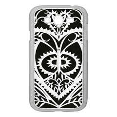Paper Cut Butterflies Black White Samsung Galaxy Grand Duos I9082 Case (white)