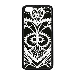 Paper Cut Butterflies Black White Apple Iphone 5c Seamless Case (black)