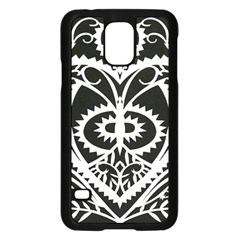 Paper Cut Butterflies Black White Samsung Galaxy S5 Case (black) by Mariart