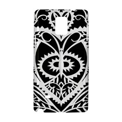 Paper Cut Butterflies Black White Samsung Galaxy Note 4 Hardshell Case by Mariart