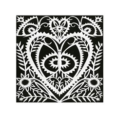 Paper Cut Butterflies Black White Small Satin Scarf (square) by Mariart