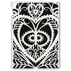 Paper Cut Butterflies Black White Apple Ipad Pro 9 7   White Seamless Case by Mariart