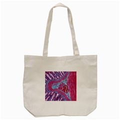 Natural Stone Red Blue Space Explore Medical Illustration Alternative Tote Bag (cream) by Mariart