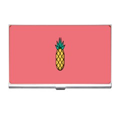 Pineapple Fruite Minimal Wallpaper Business Card Holders by Mariart