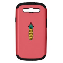 Pineapple Fruite Minimal Wallpaper Samsung Galaxy S Iii Hardshell Case (pc+silicone) by Mariart
