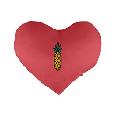 Pineapple Fruite Minimal Wallpaper Standard 16  Premium Flano Heart Shape Cushions by Mariart