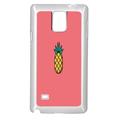 Pineapple Fruite Minimal Wallpaper Samsung Galaxy Note 4 Case (white) by Mariart