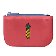 Pineapple Fruite Minimal Wallpaper Large Coin Purse by Mariart
