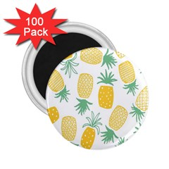 Pineapple Fruite Seamless Pattern 2 25  Magnets (100 Pack)  by Mariart