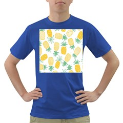 Pineapple Fruite Seamless Pattern Dark T Shirt by Mariart