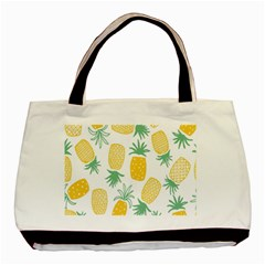 Pineapple Fruite Seamless Pattern Basic Tote Bag by Mariart