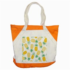 Pineapple Fruite Seamless Pattern Accent Tote Bag by Mariart