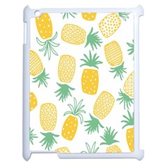 Pineapple Fruite Seamless Pattern Apple Ipad 2 Case (white) by Mariart