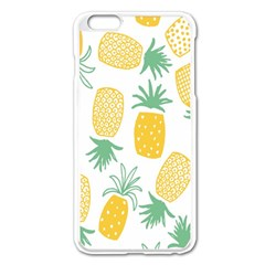 Pineapple Fruite Seamless Pattern Apple Iphone 6 Plus/6s Plus Enamel White Case by Mariart