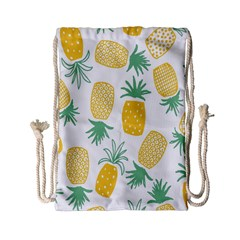Pineapple Fruite Seamless Pattern Drawstring Bag (small) by Mariart