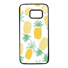Pineapple Fruite Seamless Pattern Samsung Galaxy S7 Black Seamless Case by Mariart