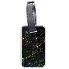 Neurons Light Neon Net Luggage Tags (two Sides) by Mariart