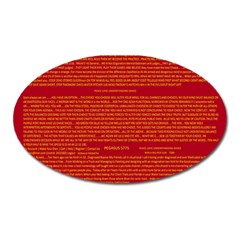 Mrtacpans Writing Grace Oval Magnet by MRTACPANS