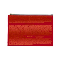 Mrtacpans Writing Grace Cosmetic Bag (large)  by MRTACPANS