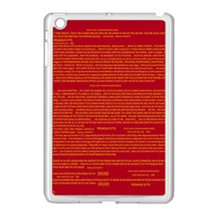 Mrtacpans Writing Grace Apple Ipad Mini Case (white) by MRTACPANS