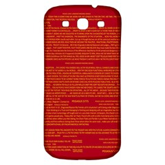 Mrtacpans Writing Grace Samsung Galaxy S3 S Iii Classic Hardshell Back Case by MRTACPANS
