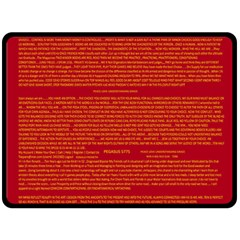 Mrtacpans Writing Grace Double Sided Fleece Blanket (large)  by MRTACPANS