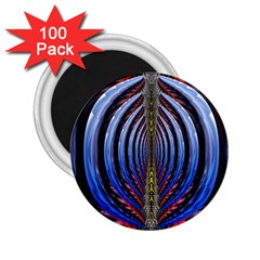 Illustration Robot Wave Rainbow 2 25  Magnets (100 Pack)  by Mariart
