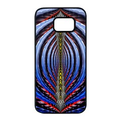 Illustration Robot Wave Rainbow Samsung Galaxy S7 Edge Black Seamless Case by Mariart